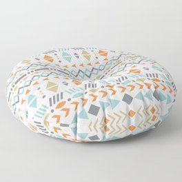Southwestern Tribal Modern Geometric Stripes of Arrows Chevrons Diamonds Leaves Triangles Circles Floor Pillow