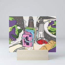 Still Life - Food Illustration - Kitchen Decor Mini Art Print