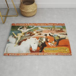 Vintage poster - The Greatest Living Lady Rider Rug