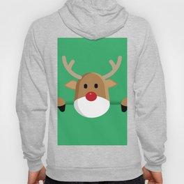 Peaking Reindeer in Green (Color) Hoody