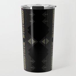 Southwestern Black Diamond Stripe Patterns Travel Mug