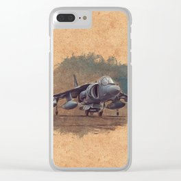 Harrier Jumpjet Clear iPhone Case
