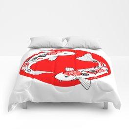Japanese Kois Comforters