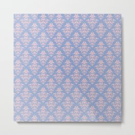 Damask Pattern | Serenity and Rose Quartz | Pantone Colors of the Year 2016 Metal Print
