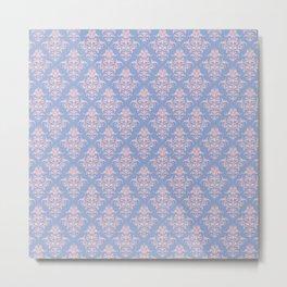 Damask Pattern | Vintage Patterns | Serenity | Rose Quartz | Pantone Colors of the Year 2016 | Metal Print