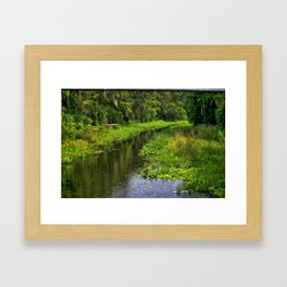 Cross Creek, Florida Waterway Framed Art Print