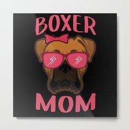 German Boxer Mom   Boxer Dog Owner Gift Metal Print