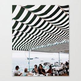 Bold Stripes, Capri Canvas Print