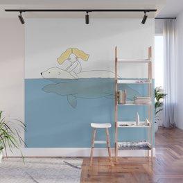 Swimming With Polar Bear Wall Mural