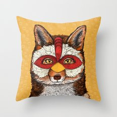 ChickenFox Throw Pillow