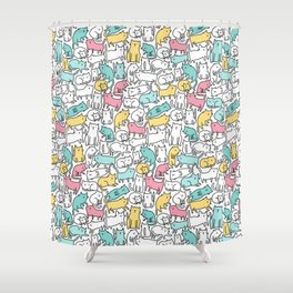 Cute kitties. Cats pattern. Shower Curtain