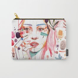 Reader beautiful watercolor illustration Carry-All Pouch