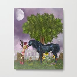 The Last Black Unicorn Metal Print