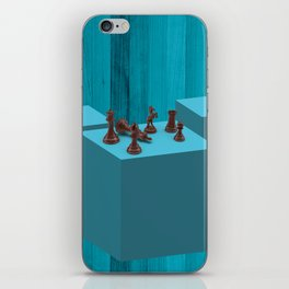3D Chess Pieces Didital Art iPhone Skin