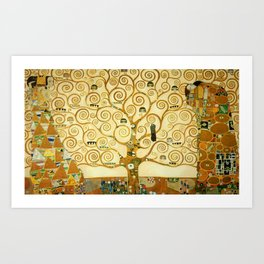 Gustav Klimt The Tree Of Life Art Print