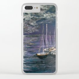 By the Light of the Silvery Moon Clear iPhone Case