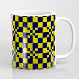 Yellow navy blue cracked floor tail Coffee Mug