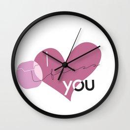 I Floss You Wall Clock