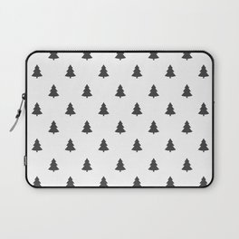 Hipster Exploring Wild Pine Trees Laptop Sleeve