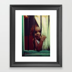Through the Window -- Costa Rica 2009 Framed Art Print