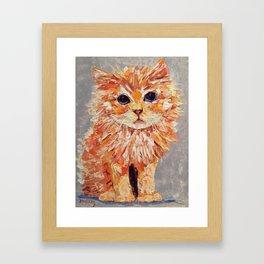 Orange kitten Framed Art Print