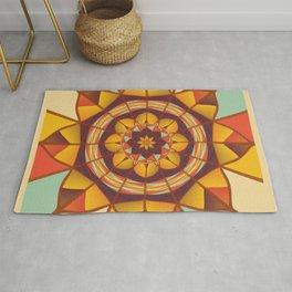 Multicolored geometric flourish Rug