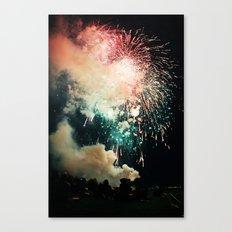 Bursts of light. Canvas Print
