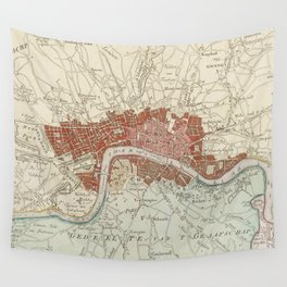 Vintage Map of London England (1754) Wall Tapestry