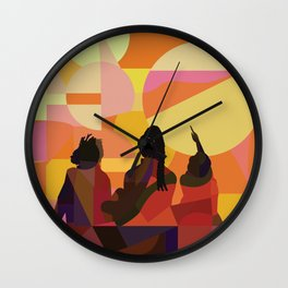 Black Girls Camp Wall Clock