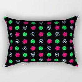 Colorful Flower Pattern Rectangular Pillow