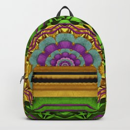 Lotus Pond In Gold Pattern Backpack