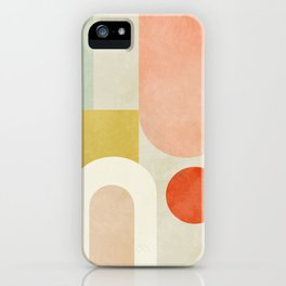 geometry abstract pastel iPhone Case