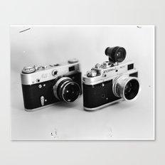 Classic Cameras Canvas Print