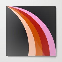 Retro Rainbow Stripes Metal Print