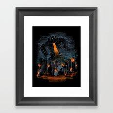 Evil Will Burn Framed Art Print