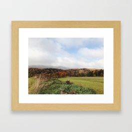 Autumn Valley Framed Art Print