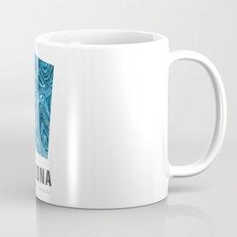 Arizona - State Map Art - Abstract Map - Blue Coffee Mug