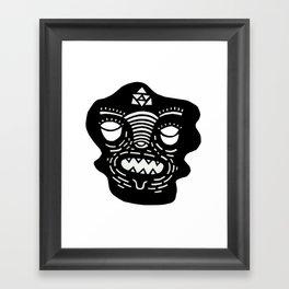 stencil face Framed Art Print