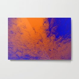 Up Above blue Metal Print