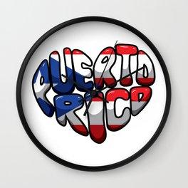 Puerto Rico Heart - Boricua Love Wall Clock