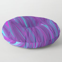 Pink, Purple, and Blue Waves 2 Floor Pillow