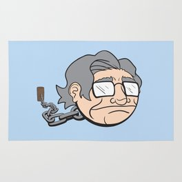 Chain Chompsky - Bizarre Mashup of Noam Chomsky and a Chain Chomp from Super Mario Bros Rug