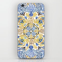 Wheat field with cornflower - mandala pattern iPhone Skin