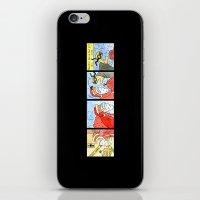 santa iPhone & iPod Skins featuring Santa by Bakal Evgeny