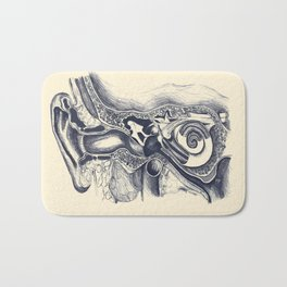 Inner ear anatomy Bath Mat