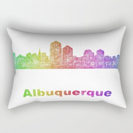 Rainbow Albuquerque skyline Rectangular Pillow