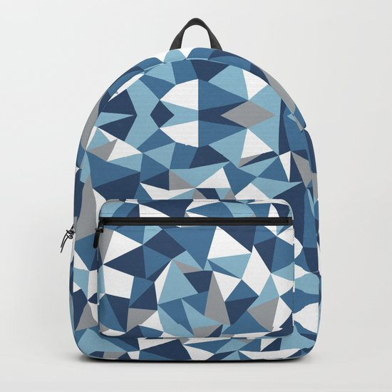 Abstract Collide Blues Backpack