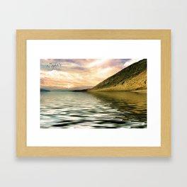 mountain lake 4 Framed Art Print