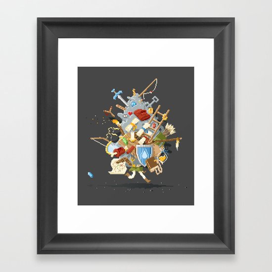 It's Dangerous to go alone, Take This. Framed Art Print