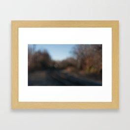 autumn railroad Framed Art Print